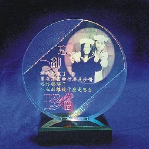gt-01圓型雙藍邊夜燈